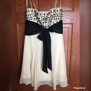 BCBGMAXAZRIA Beaded Chiffon dress